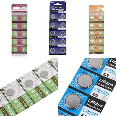 10x AG13/AG10/AG6 CR2032 CR1220 Button Coin Cell Pack Alkaline Batteries Salable