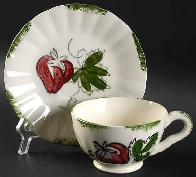 Blue Ridge Southern Pottery STRAWBERRY SUNDAE Cup & Saucer 5788234