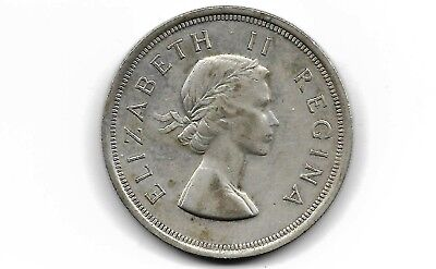 South Africa 1953 5 shilling  silver coin