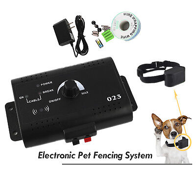 Auto Electric Dog Fence System Shock Waterproof No Wire Collars For Pet Dog