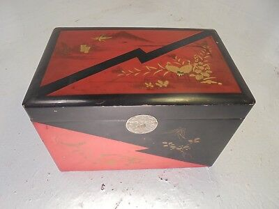 Large Antique Lacquered Japanese Tea Caddy    ref4336