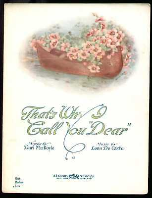 That's Why I Call You Dear 1916 Vintage Sheet Music
