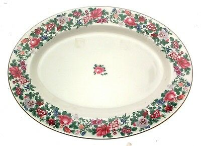 Crown Staffordshire Thousand Flowers Platter Meat Plate 40 cms