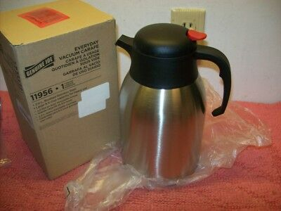Genuine Joe 2L Stainless Steel Everyday Double Wall Vacuum Insulated Carafe, New