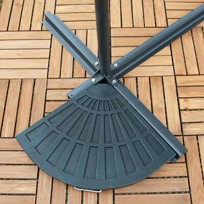 14Kg Resin Garden Patio Banana Cantilever Umbrella Parasol Base Weights Wido