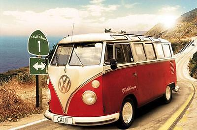 VW California Camper : Route One - Maxi Poster 91.5cm x 61cm (new & sealed)