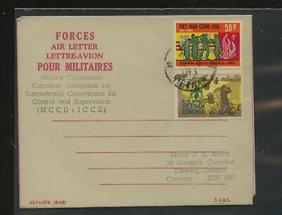 Vietnam  letter  sheet   military   to  Canada    MM1203