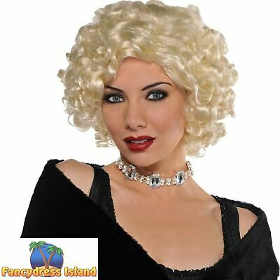 Roaring 20s 1920's Roxie Wig Curly Charleston Flapper Womens Fancy Dress Costume
