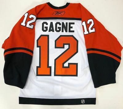 Simon Gagne 2007 Philadelphia Flyers Authentic Reebok On Ice Jersey 46 e0e7ef246