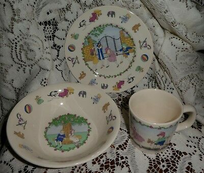 Laura Ashley Playtime child's Plate Soup Bowl and Mug / Cup