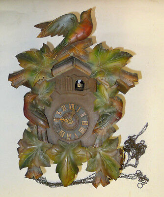 BLACK FOREST Triple Weight driven MUSICAL STRIKE CUCKOO CLOCK for repairs&spares
