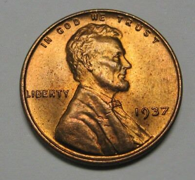 1937 Lincoln Wheat Cent in the CH BU Range Nice Coins DUTCH AUCTION