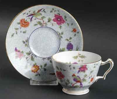 Crown Staffordshire BIRD OF PARADISE Cup & Saucer 6903013