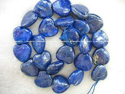 "beautiful ! AA 15.5"" 16*6mm lapis lazuli heart blue color nature beads wholesale"