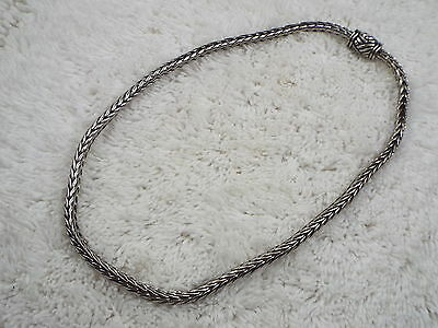 Silvertone Rolled Wheat Chain Necklace (D41)