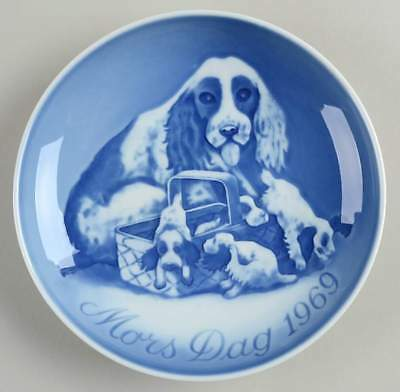 Bing & Grondahl MOTHERS DAY PLATE Dog & Puppies 61142