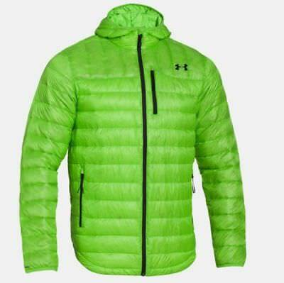 Under Armour Men's Green Storm ColdGear Infrared Turing Puffer Hooded Jacket