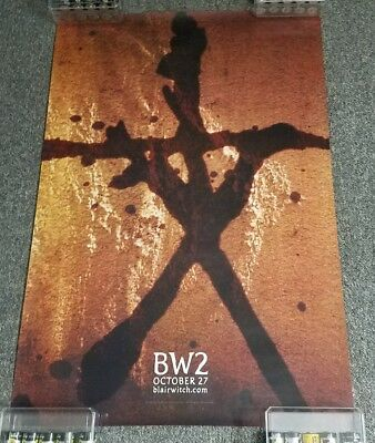 """2000 Blair Witch 2 Book of Shadows 27""""×40"""" DS movie theater poster FREE SHIPPING"""