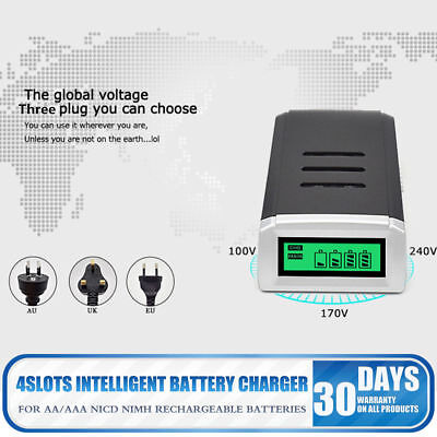 Universal Intelligent LCD Battery Charger Alkaline AAA AA Ni-MH NiCad Battery ZX