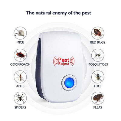 Ultrasonic Electronic Anti Mosquito Pest Repeller Cockroach Reject Insect 1/6pcs