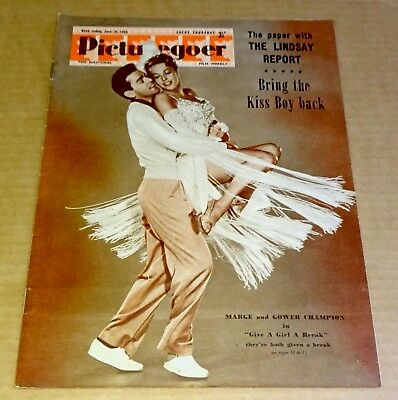 "PICTUREGOER MAGAZINE 26h JUNE 1954  ""MARGE & GOWER CHAMPION""  COVER"