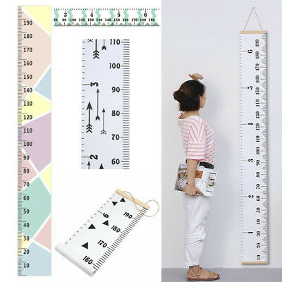 Wooden Kids Growth Chart Children Room Decor Wall Hanging Height Measure Ruler