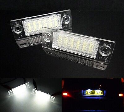 2x VW Transporter T5 Caddy Touran Multivan LED Licence Number Plate Light White