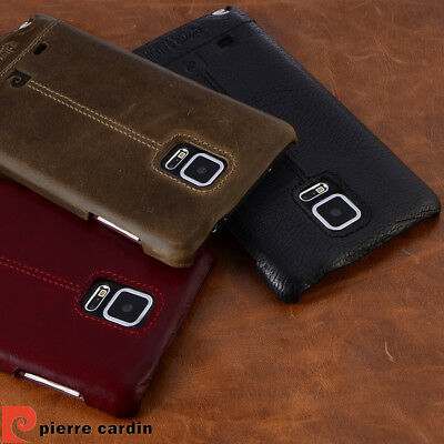 wholesale dealer d9f1f 01bcf PIERRE CARDIN FOR Samsung Galaxy Note 5 4 Case Genuine Leather Hard Back  Cover
