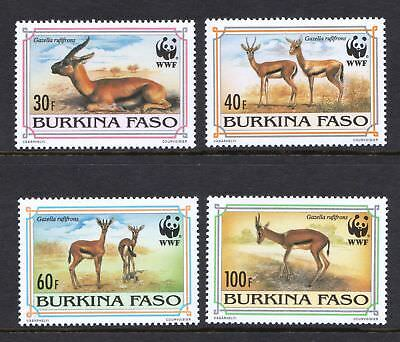 Burkina Faso 1993 Red-fronted Gazelle - Deer - WWF - MNH set - Cat £8 - (15)
