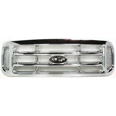 New Grille All Chrome Fits 1999-2004 Ford F-250 Super Duty FO1200417