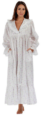 "100% Cotton Nightgown / Housecoat - Amelia ""LR"" - Sizes S- 4XL"
