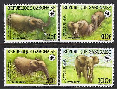 Gabon 1988 Endangered Animals - African Elephant - MNH set - Cat £13.50 - (19)