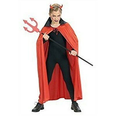 Children's Red Cape Withblack Collar Child 110cm Costume Infant 3-4 Yrs (110cm)