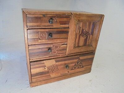 Vintage Japanese inlaid Miniature  Cabinet ,  Box ref 4476