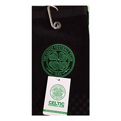 New 2018 Celtic Fc Cross Tri Fold Golf Towel By Premier Licensing. - Tri Gift