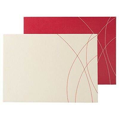 Creative Tops Stitched Faux 4-piece Set Of Leather Placemats By, 29 x 22cm -