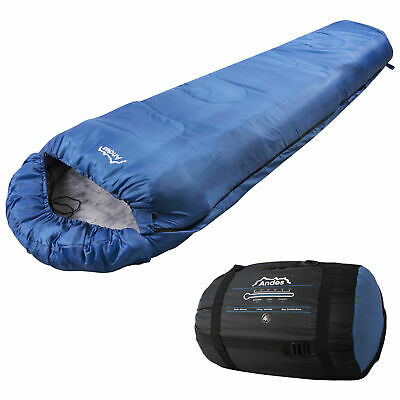 Andes Blue 4 Season XL Camping Hiking Mummy Sleeping Bag