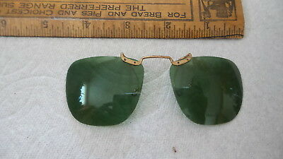 Antique POLAROID CLIP-ON SUNGLASSES, Green, Aviator