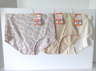 2c18f06b0b01 WARNERS NO MUFFIN Top Brief Panties Size 8/Xl 3 Pair Style 5738 ...