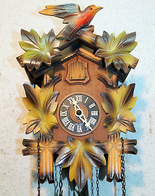 Old Cuckoo Clock Wall clock Chim Cuckoo Black Forest *TRIBURG made in Germany*