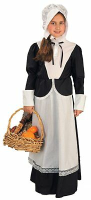 New Pilgrim Girl Costume Thanksgiving Halloween Colonial Days School Size Small  sc 1 st  PicClick & GIRLS PILGRIM COLONIAL Halloween Costume - $22.47   PicClick