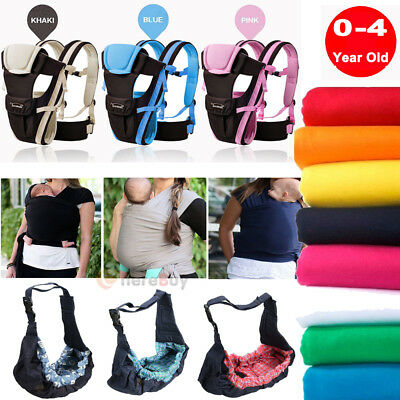 Newborn Baby Infant Sling Carrier Ring Wrap Adjustable Soft Nursing Pouch Front