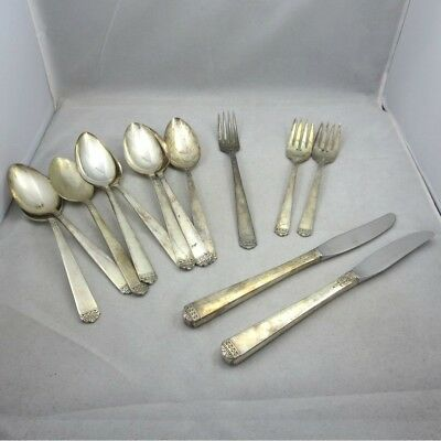 73pc Mixed Craft Lot Vintage Oneida Wm A Rogers 1881 Rogers Silverplate Flatware