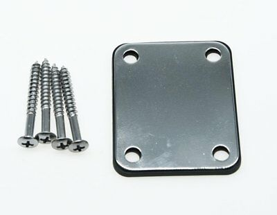 * NEW NECK PLATE with Screws & Guard for Fender Strat Tele P Jazz Bass Chrome