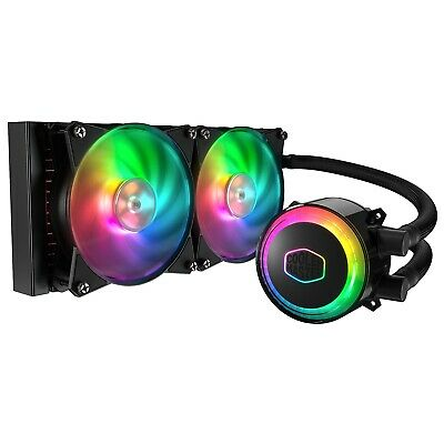 Cooler Master MasterLiquid ML240R RGB 240mm Quiet Liquid CPU Cooler Heatsink Fan