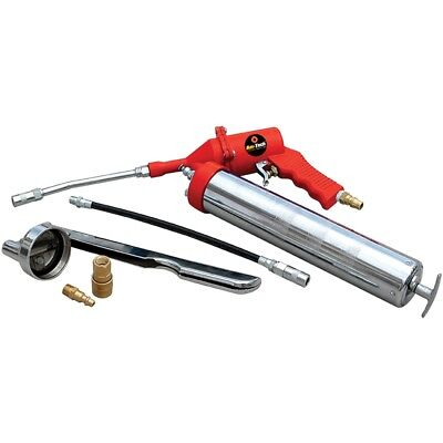 Air Grease Gun With One Hand Pistol Grip - Flexible Spout Lubrication Tube