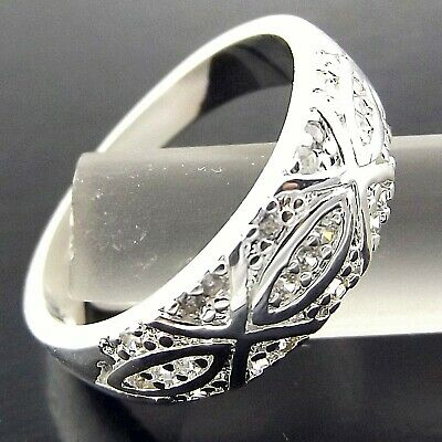 Ring Genuine Real 925 Sterling Silver S/f Solid Ladies Engraved Antique Design P
