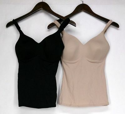 Rhonda Shear Molded Cup Camisole Size S 2-Pack Black / Beige Womens