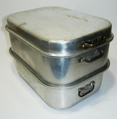 Vintage Wear-Ever Heavy Aluminum 5 Piece Vented Roaster Pan Turkey Ham