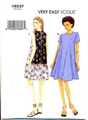 VOGUE SEWING PATTERN 1496 MISSES 10-32 LOOSE-FITTING V-NECK DRESS IN PLUS SIZES